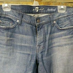 7FAM Blue Label Medium wash Bootcut jeans sz 32